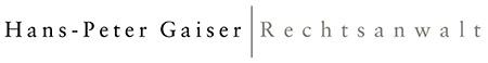 Hans Peter Gaiser Rechtsanwalt